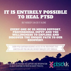 It is entirely possible to heal PTSD, but nobody can do it alone.
