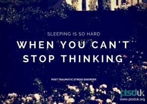 sleeping is so hard ptsd